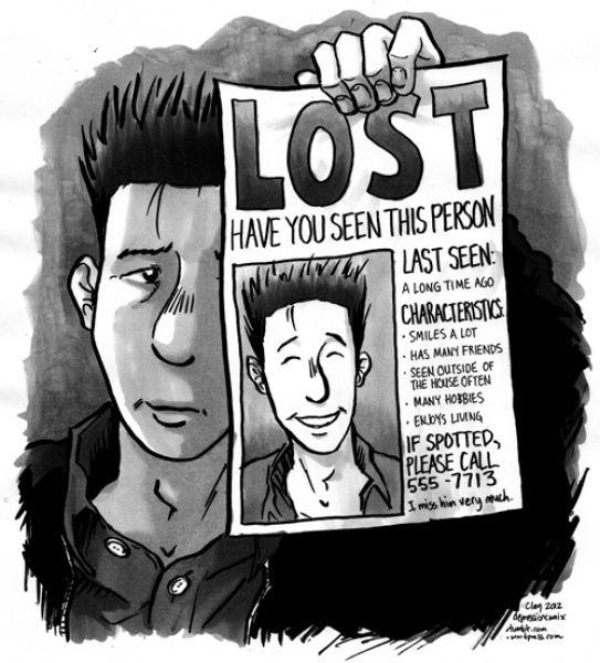 Illustrative Cartoon Images Capture the Essence of Depression