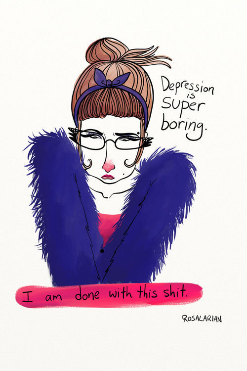 Illustrative Cartoon Images Capture the Essence of Depression