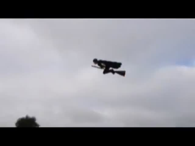 World's Most Awesome RC Plane Looks like Someone Flying on a Broomstick