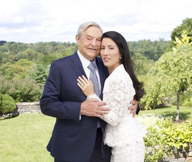 George Soros's Newest Blushing Bride