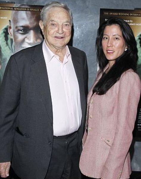 George Soros's Newest Blushing Bride