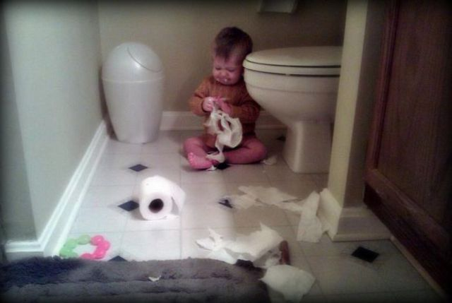 Kids Do the Oddest Things When They're Left Alone