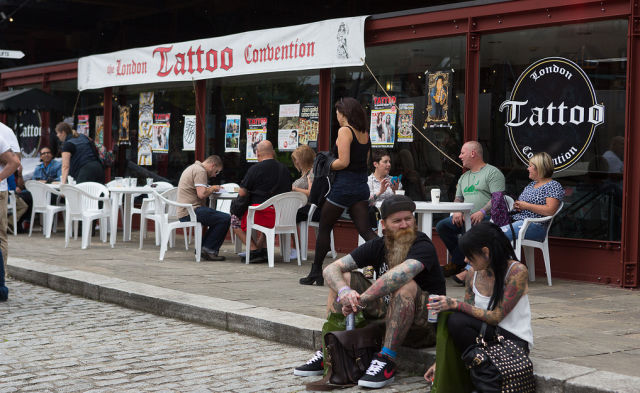 Tattoo Lovers Flock to London for the International Tattoo Festival