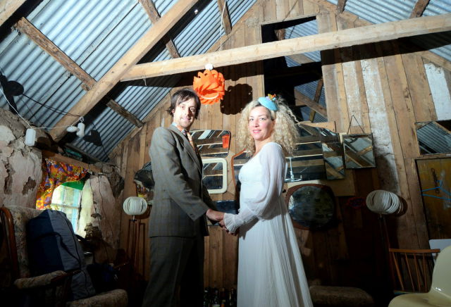 """Couple Give a New Meaning to the Term """"Budget Wedding"""""""