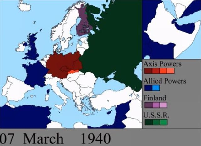 World War Ii In Europe And Pacific A Day By Day Map Change 2