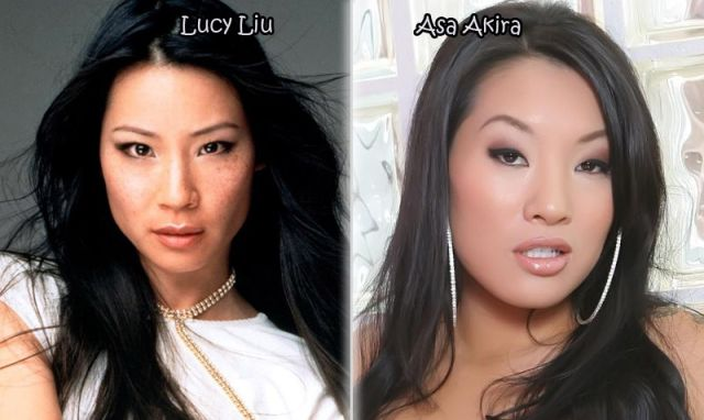 Gorgeous Stars and Their Porn Actor Dopplegangers