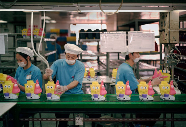 Revealing Photos from Inside a Chinese Toy Factory
