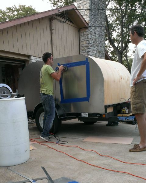 A Homebuilt Mobile Home on a Trailer