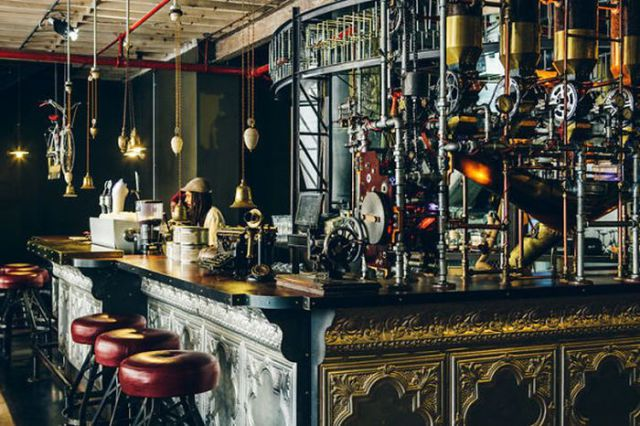 Stylish Steampunk Inspired Coffee Café in South Africa