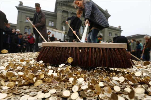 A Money Lined Street in Switzerland