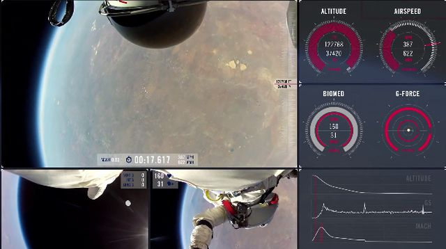 Red Bull Stratos Jump: New HQ Footage with Multi-Angle POV and Mission Data