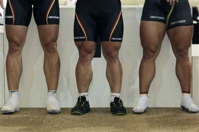 The German Athlete with the Gigantic Legs