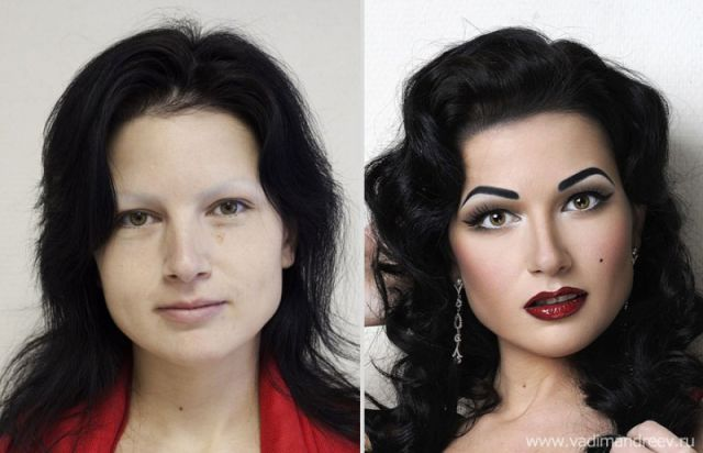 Russian Girls Look Dramatically Different after Makeup
