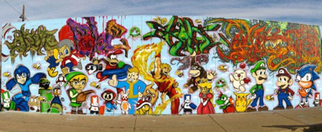 Cool Video Game Styled Street Art