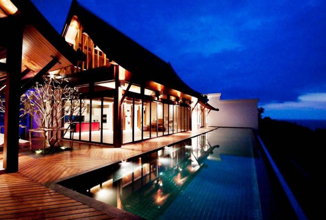 A Spectacularly Extravagant Villa in Thailand