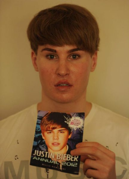 Male Justin Bieber Fan Takes Adoration to the Next Level