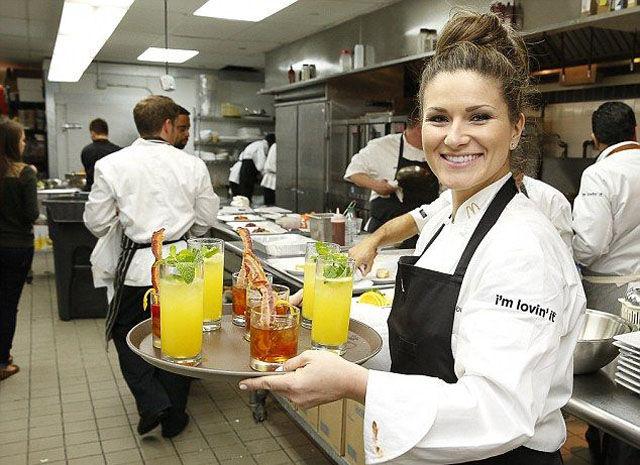 Chefs Prepare Fancy Fast Food