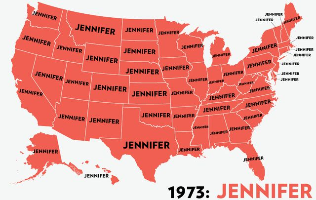 A State by State Guide to America's Top Baby Names for Girls over Six Decades