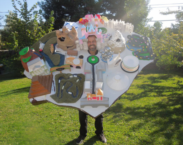 Man Recreates Map of Disneyland as a Wearable Costume for Halloween