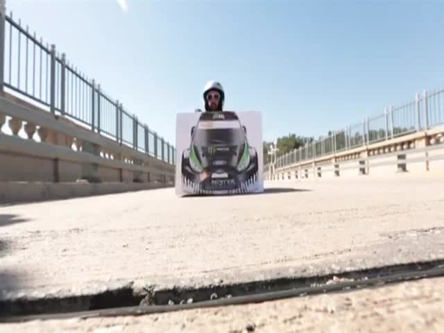 A Crazy Kart Parody/Tribute to Ken Block's Gymkhana Videos
