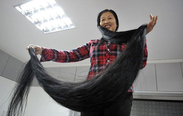 The Chinese Woman with a Remarkable Head of Hair