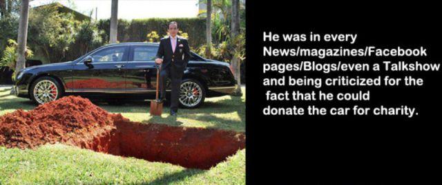 Brazilian Magnate Buries His Million Dollar Bentley