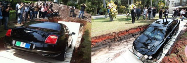 Brazilian Magnate Buries His Million Dollar Bentley