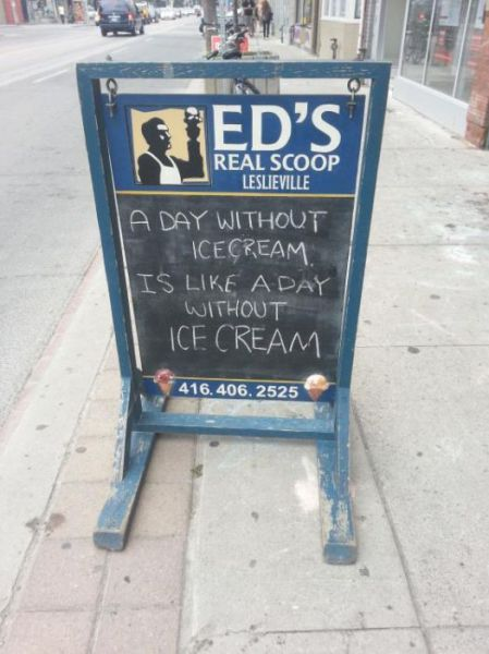 Funniest Signs Spotted on the City Sidewalks
