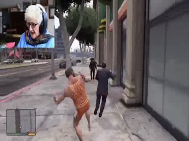 British Grandma Takes Out Her Anger Playing GTA 5