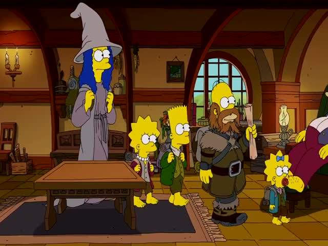 LOTR's Prequel 'The Hobbit' Gets the Simpsons' Couch Gag Treatment