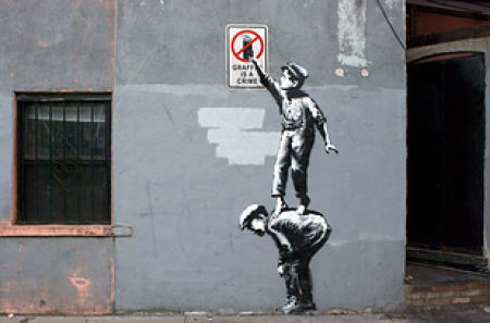 Banksy's Street Art Gets the GIF Treatment