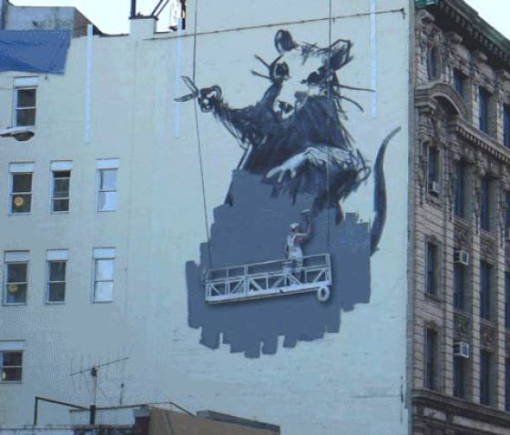 Banksy's Street Art Gets the GIF Treatment