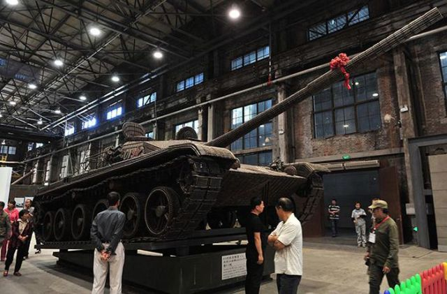 A Tank Built Entirely from Empty Ammo Shells