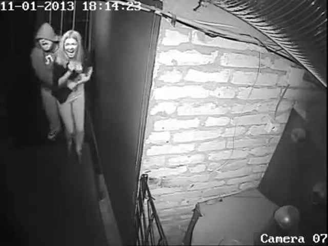 Hilarious Moment Caught on Camera after Couple Goes to House of Horrors