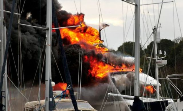 Multimillion Dollar Yacht Goes Up in Flames