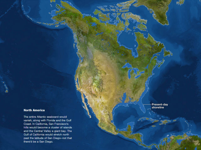 The World as It Would Look If all the Ice Melted