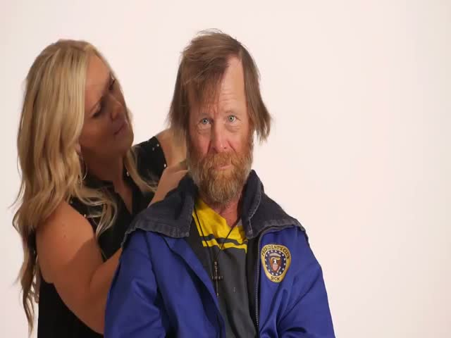 Homeless Veteran's Physical Transformation in Timelapse