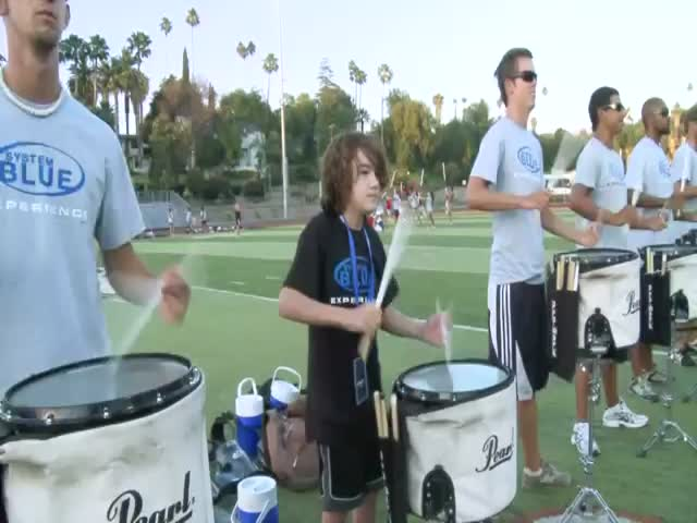 12-Year-Old Self-Taught Kid Joins Drum Line Team, Nails It!