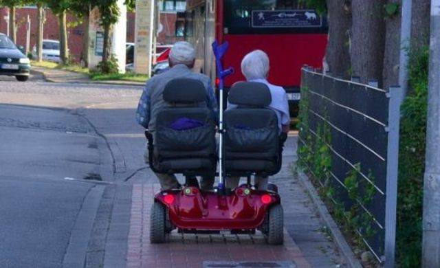 Old People Having a Little Bit of Fun