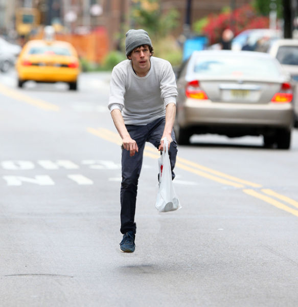 Funny Pics of Riding on Invisible Bicycles