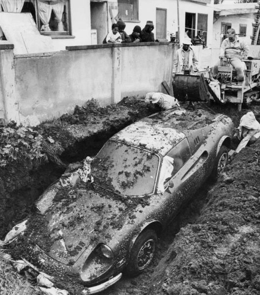 The Real Story behind a Buried Ferrari