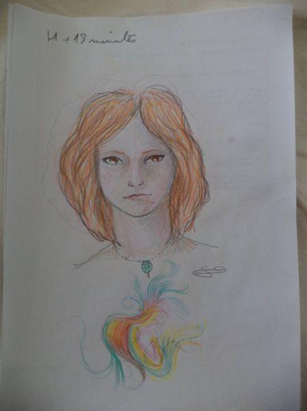 Girl Draws Self Portraits During LSD High