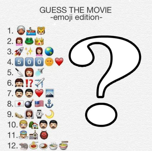 Emoji Interpretations of 50 Movies