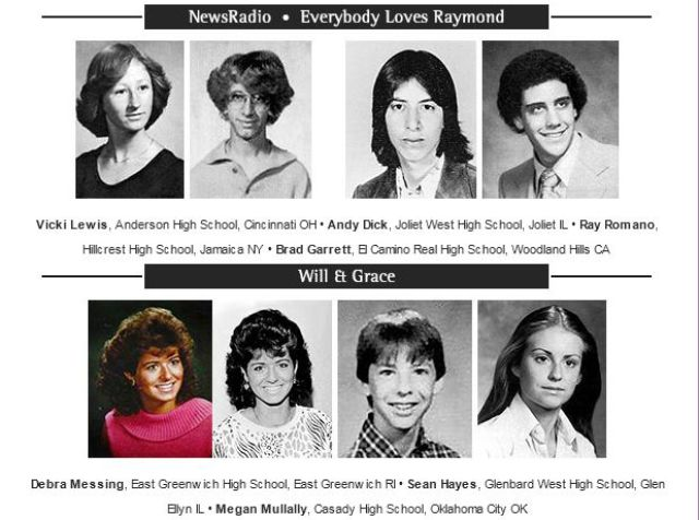 Grouped Yearbook Photos of the Co-Stars of TV Shows