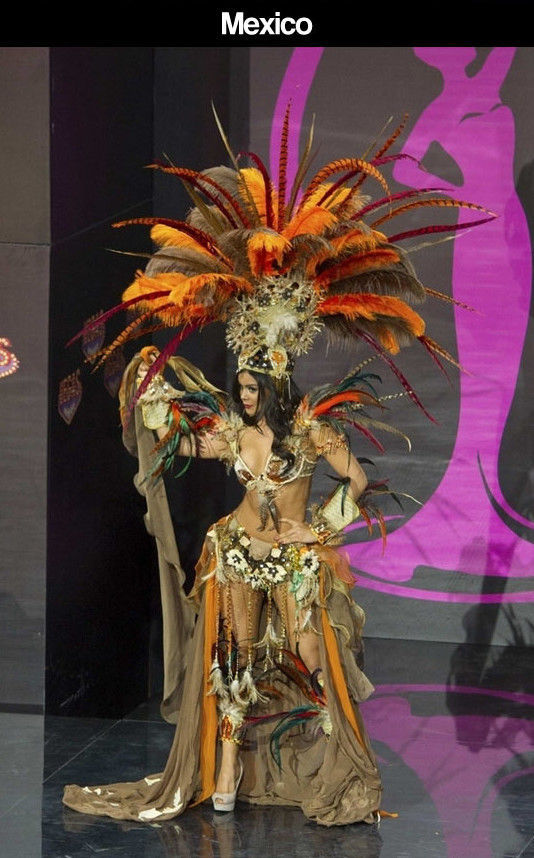 Miss Universe Pageant Contestants Parade Costumes for Their Country