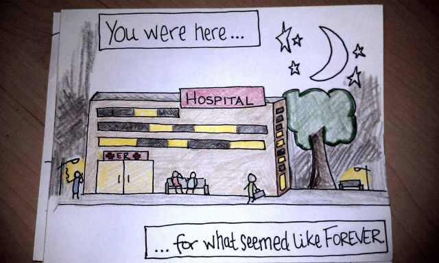 A Sweet Welcome Home Cartoon from a Loving Wife