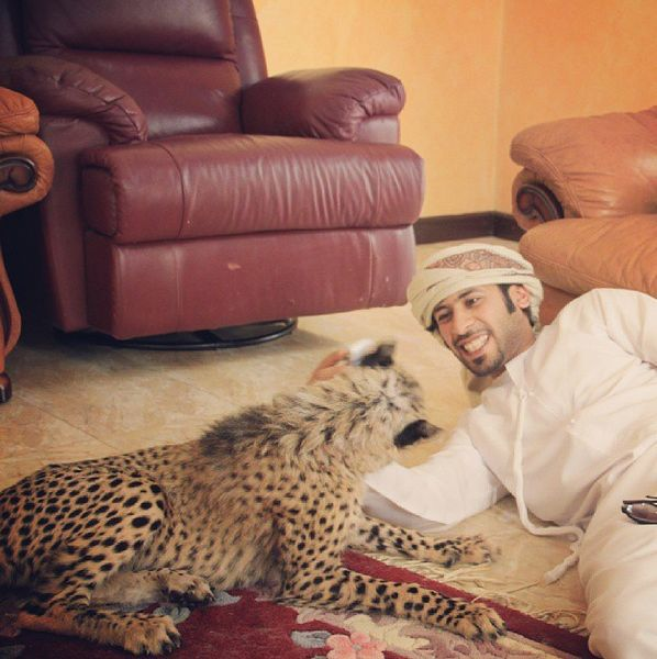 Rich Dudes Pose with Lions for Prestige