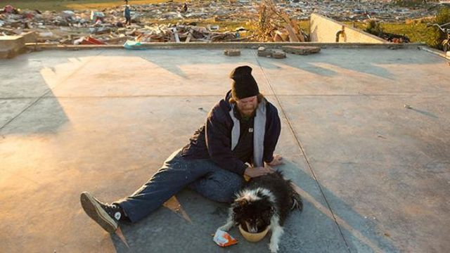 Man Is Reunited with His Dog after Illinois Tornado