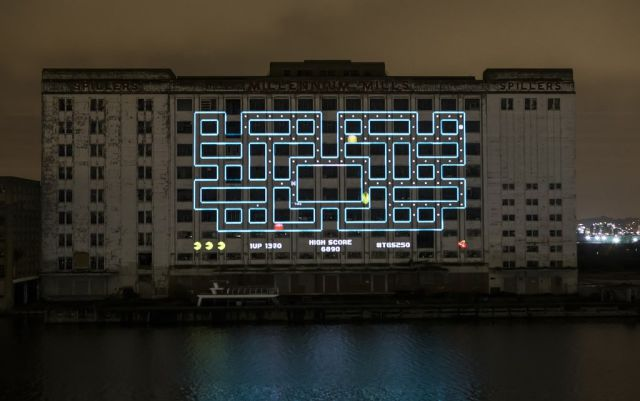 A Gigantic Pacman Game That Is the Biggest in the World