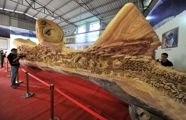 The Longest Wood Carving in the World
